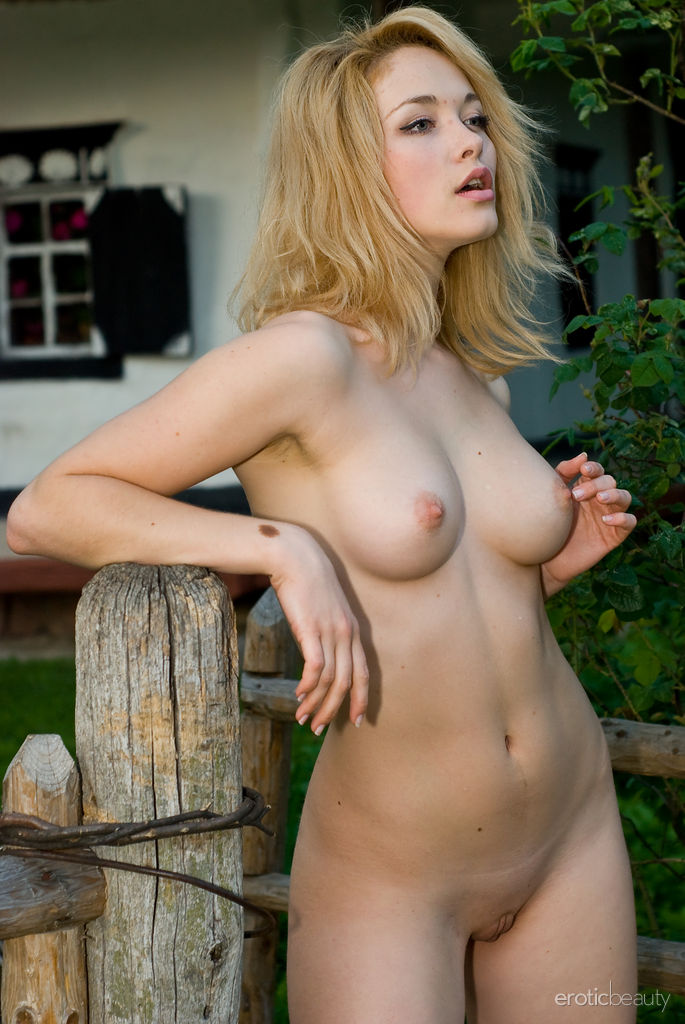 Nude in a tent