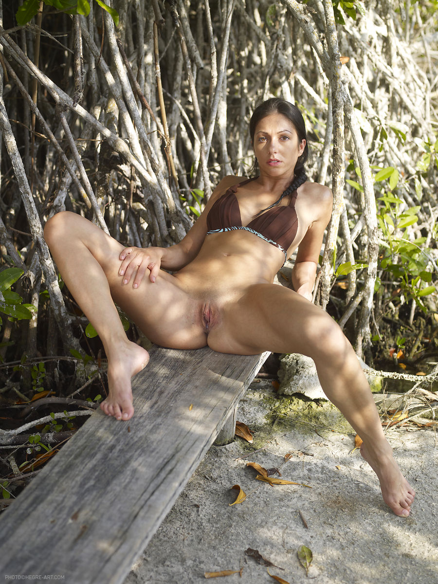 nudist girl in jungle
