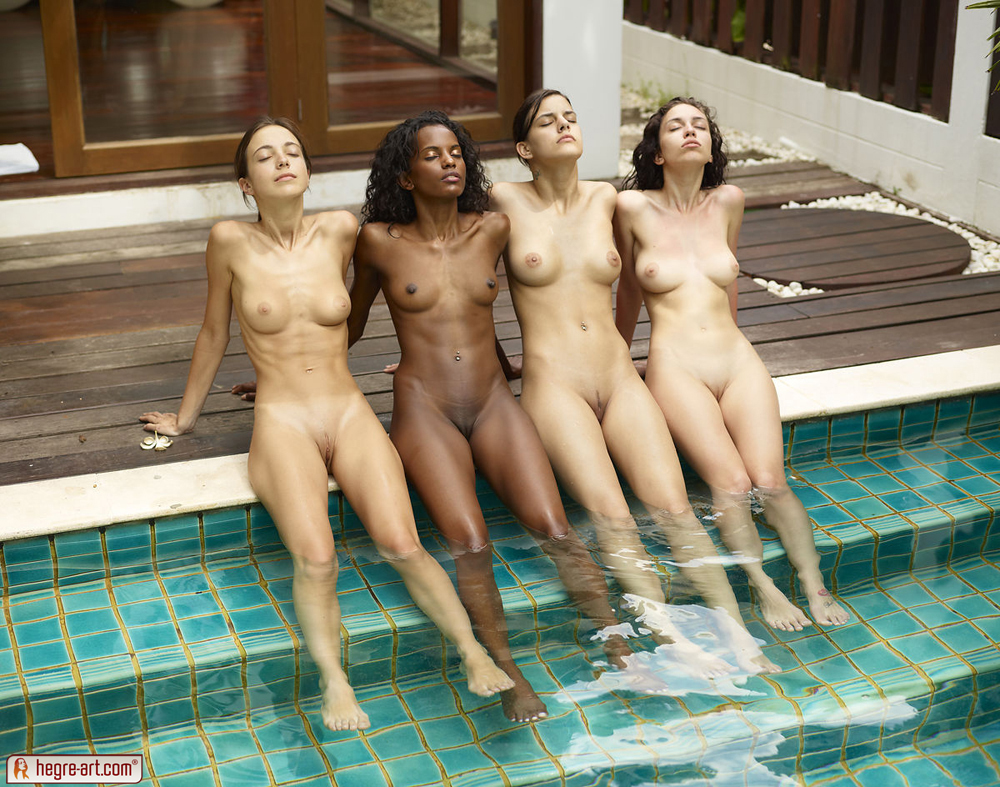 Valerie, Kiki, Engelie, Candice In Pool Party By Hegre-Art -2427