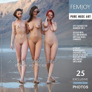 Beach Hoppers : Ariel A, Lorena G, Ashley from FemJoy, 26 Jul 2009