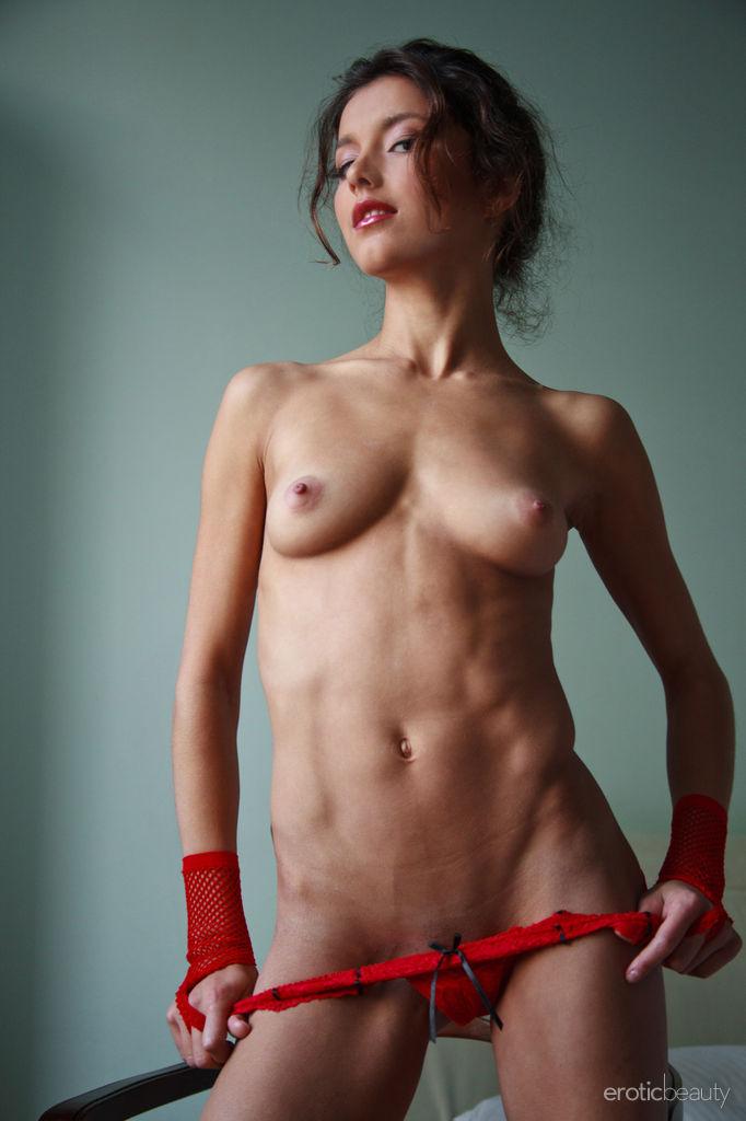 Skinny girls nude striped #15
