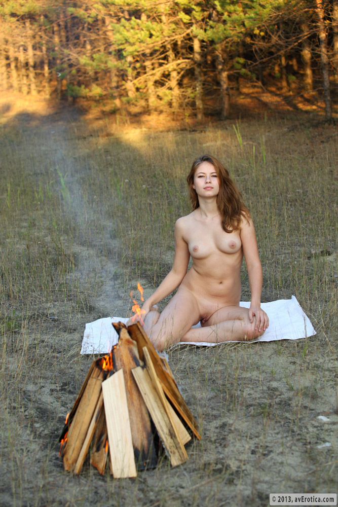 Opinion sitting campfire nude around simply does