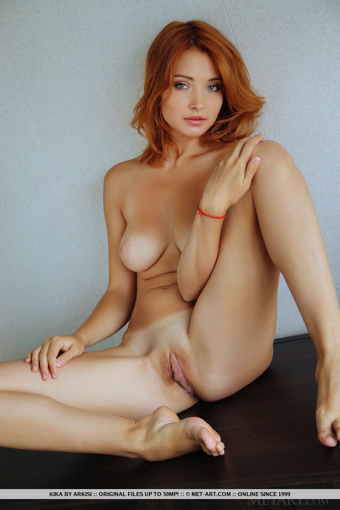image Big beautiful red headed babe and her hairy pussy