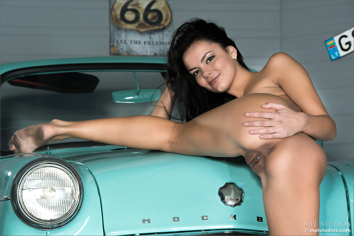 Nude Women On Hoods Of Cars